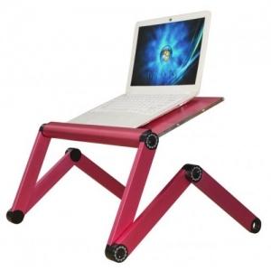 Раскладной столик для ноутбука Aili PT-50S, розовый купить по низкой цене в Москве. Доставка